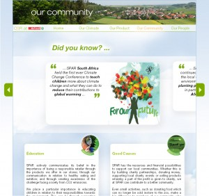 Spar International launches sustainability web site