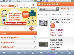 Sainsbury's launches mobile website for non-food