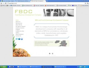 Food and drink development consultancy revamps website