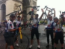 Lyons coffee team cycles to Paris to raise £4,000 for Poppy Appeal
