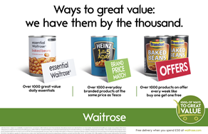 Waitrose to launch multi-channel 20-day value campaign