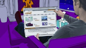 Comet promotes click and collect in animated Christmas idents