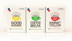United Coffee relaunches Lyons brand and introduces coffee bag