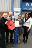 AF Blakemore recognised for Poppy Appeal support by The Royal British Legion