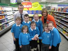 Spar Kincaidston, Ayr, supports local primary school's healthy eating initiative