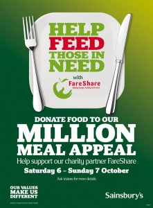 Sainsbury's ties with FareShare to launch Million Meal Appeal campaign
