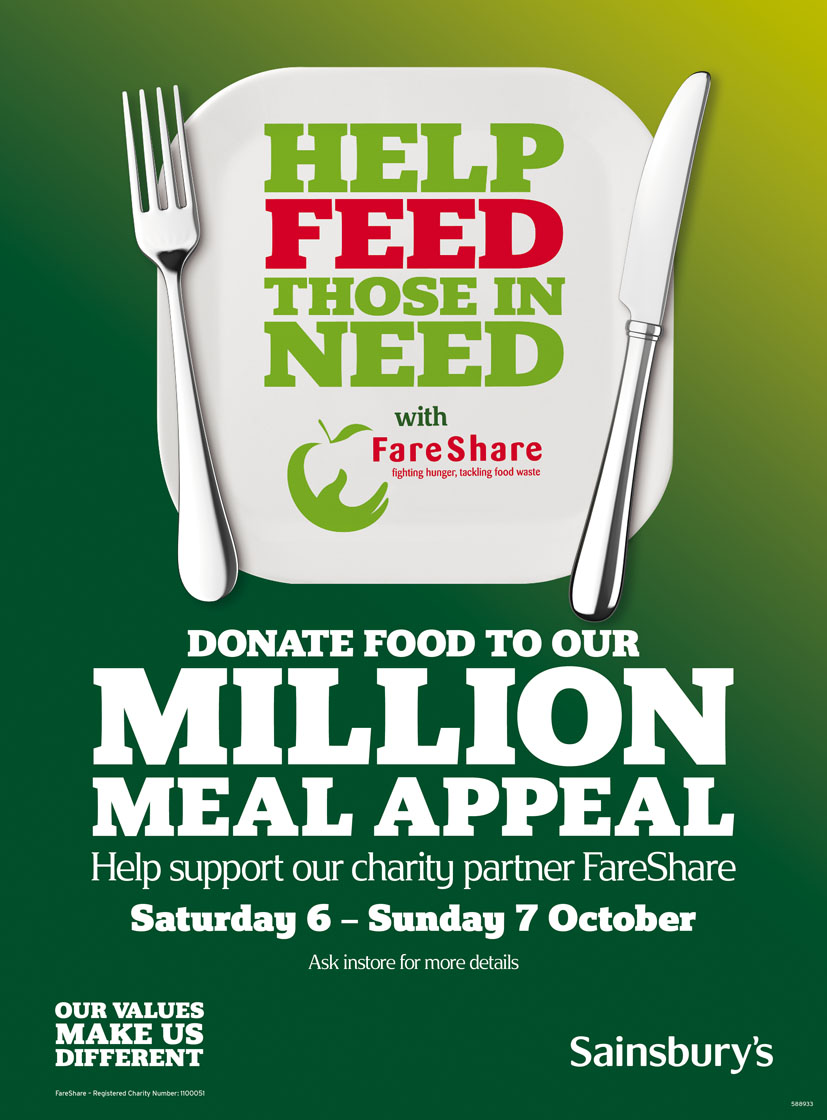Sainsbury S Ties With Fareshare To Launch Million Meal
