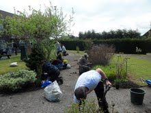 AF Blakemore employees volunteer in sheltered housing gardening project