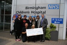 Blakemore Foodservice raises £6,000 for Birmingham Children's Hospital