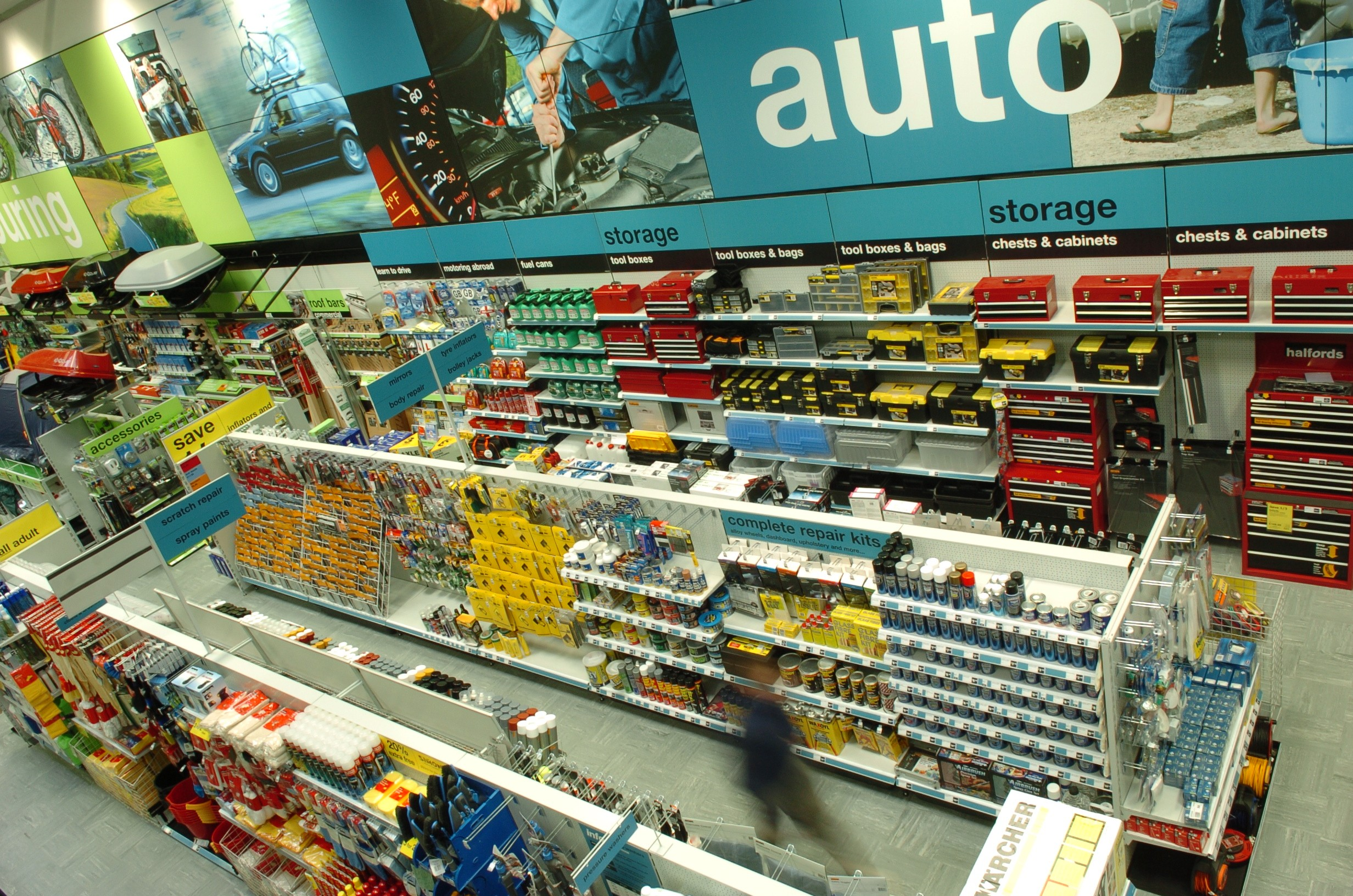 Used Fords Halfords drives better communication with in-store signage ...