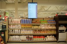 Pricer translates electronic shelf labelling solutions to poster-size at Norway store