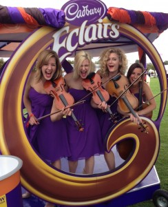 Cadbury Eclairs hires string quartet to play musical interpretation of new flavours