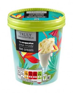 Co-operative Food launches Pina Colada Ice Cream into Truly Irresistible range
