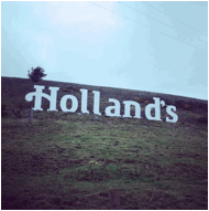 Holland's Pies unveils new logo and branding Hollywood style on Lancashire hills