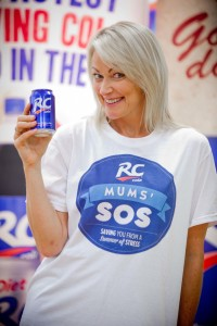 Terri Dwyer visits Asda store in Manchester for RC Cola's Mums' SOS campaign