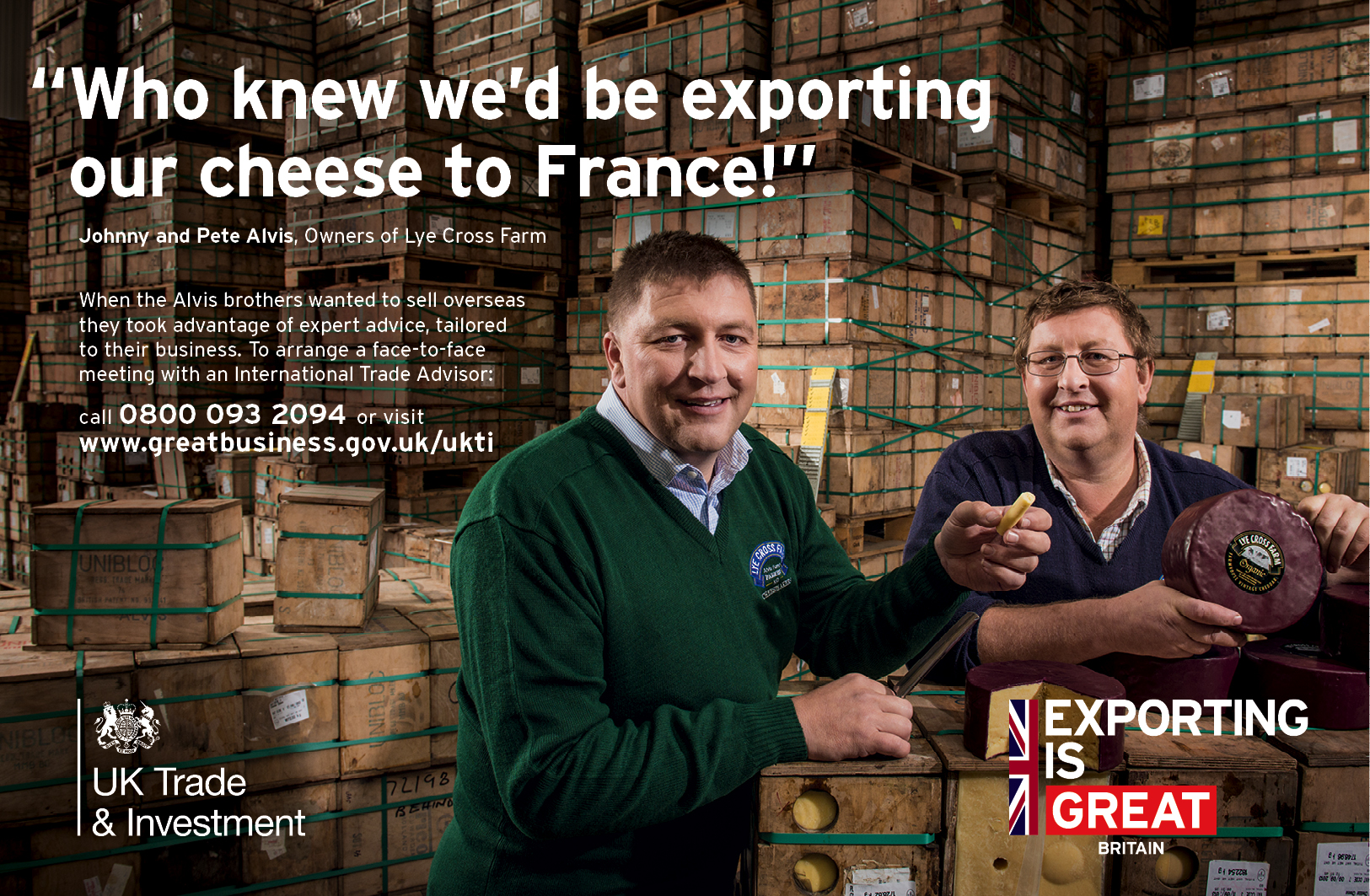 Lye Cross Farm: support from UKTI