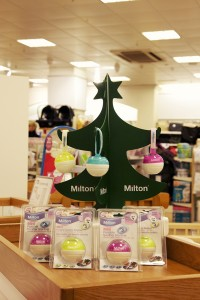 Mothercare launches promotional Christmas POS campaign with Milton sterilisers