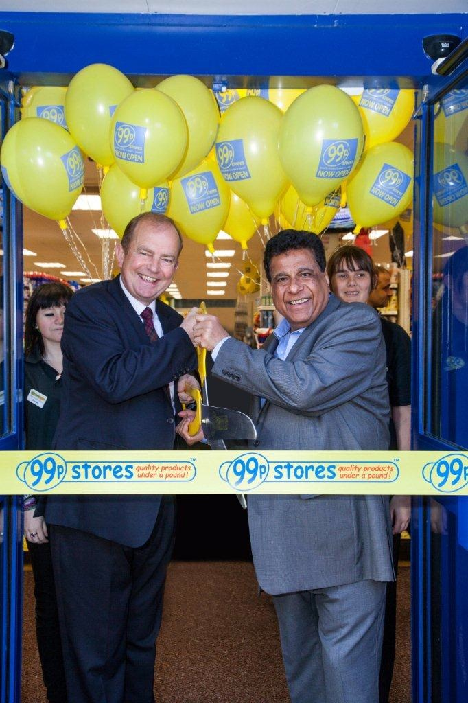 Nadir Lalani and Glen McDonald: 70 new 99p stores planned