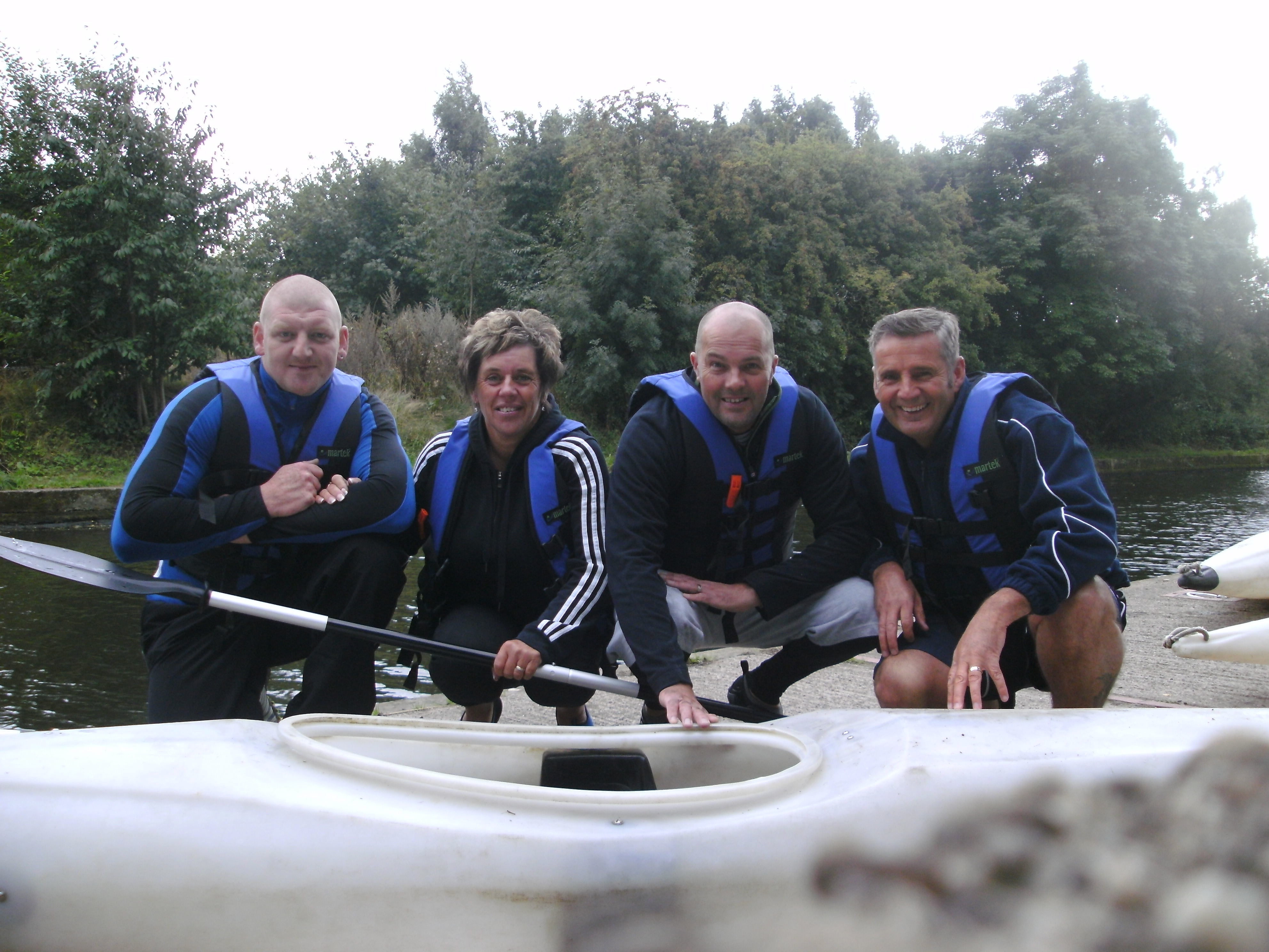 The Blakemore Foodservice Wakefield team following their 15 mile kayak challenge