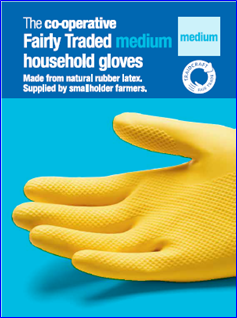 Fairly Traded rubber gloves