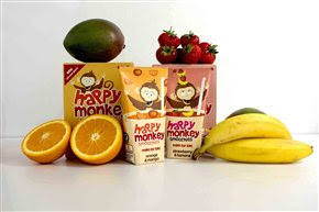 Smoothie brand, Happy Monkey, launches TV advertising campaign and fresh pack design