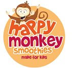 Smoothie brand winner, Happy Monkey, celebrates success with parents and school children