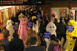 PETA: launching ad campaign on tube