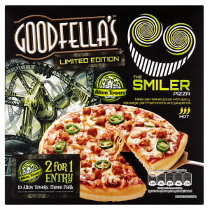 Goodfella's Pizza ties with Alton Towers to launch rollercoaster-inspired pizza and on-pack promotion