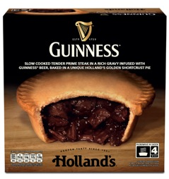 Holland's partners with Guinness to launch Steak & Guinness Pie