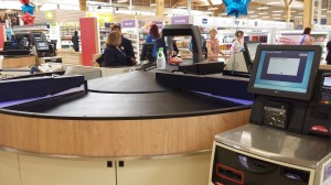 Tesco aims to improve checkout experience with automated bar code belt scanner at Extra store