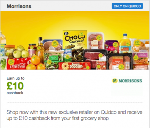 Morrisons partners with Quidco to encourage trials of online shopping service