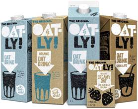 Oat-based milk alternative, Oatly, relaunches to attract 'stealth health' shoppers