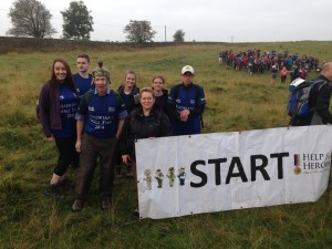 Charles Clinkard employees trek along Hadrian's Wall to raise £500 for Help for Heroes