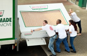 Krispy Kreme UK creates giant box of 2,400 doughnuts to launch service for big occasions ­