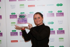 Lucy Denton, area manager at Morrisons in South Wales, was named 2014 Woman of the Year