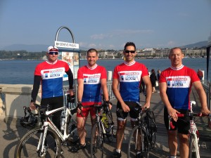 Team from The Midcounties Co-operative cycle from Paris to Geneva to raise £15,000 for Teenage Cancer Trust