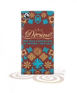 Divine Milk Chocolate with Toffee & Sea Salt named UK's Favourite Fairtrade Product