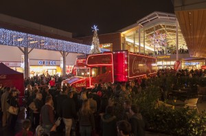 Coca Cola truck at intu Chapelfield, Norwich in 2013 is poised to draw fresh crowds this year