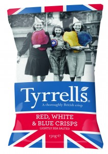 Tyrrells launches patriotic Red, White and Blue Crisps