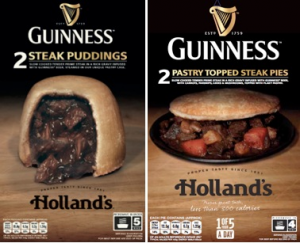 Holland's adds Steak & GUINNESS Pastry Topped Pie and Steak & GUINNESS Pudding