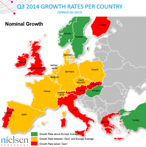Price Europeans pay for FMCG goods rises by lowest level for nearly four years, Nielsen reports