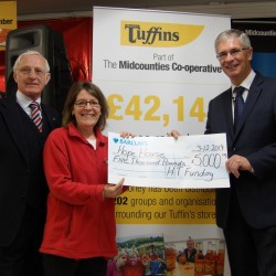 Harry Tuffins raises over £47,000 to support the work of local community groups