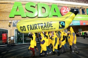 Fairtrade Foundation campaigns for Fairtrade bananas at Asda