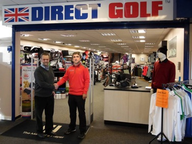 Direct Golf managing director Neil Bell with Hedge End Golf Centre site owner Ted Awcock