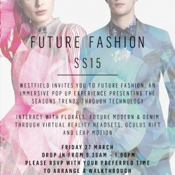 Westfield to launch latest fashion campaign: FUTURE FASHION