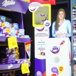 Tensator Virtual Assistants promote new Mondelēz International lines at Carrefour, Cora and Makro stores
