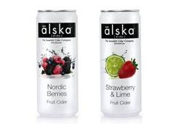 Swedish fruit cider brand, älska, adds two seasonal flavours and can four-pack