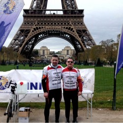 Blakemore Logistics transport managers cycle London to Paris for Bowel Cancer UK