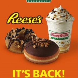 Krispy Kreme brings back Reese's peanut butter doughnut for the summer