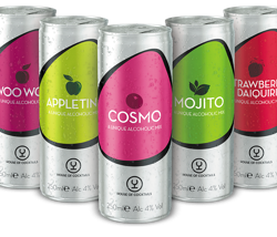 Global Brands launches range of Ready to Serve (RTS) premix cocktails in 250ml cans